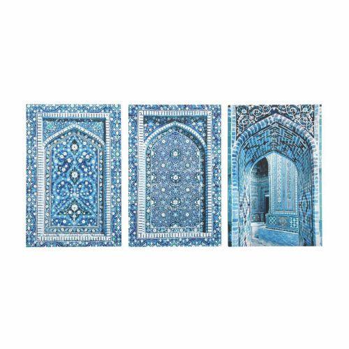 3 Toiles Bleues 53 X 80 Cm Gabes Deco Orientale Decoration Salon Oriental Toile