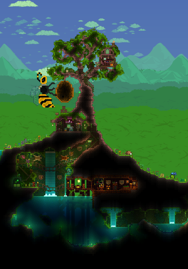 I built this Mahogany tree base for the witch doctor. What