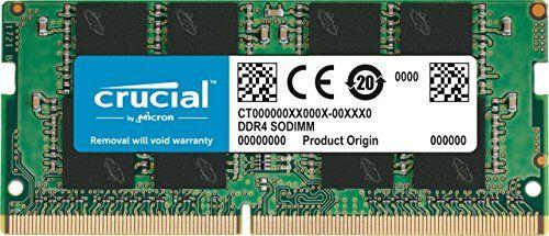 Crucial 16GB Single DDR4 2400 MTs PC419200 DR x8 SODIMM 260Pin Memory  CT16G4SFD824A