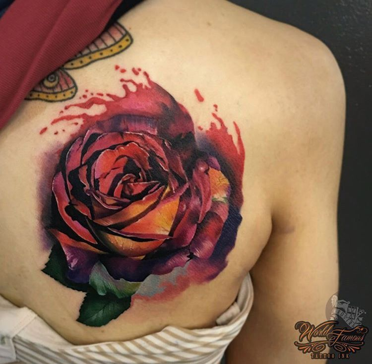 realistic watercolor rose pinterest watercolor rose tattoo and watercolour tattoos. Black Bedroom Furniture Sets. Home Design Ideas