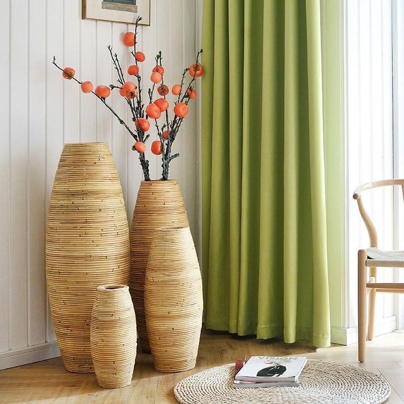 Large Bamboo Floor Vase