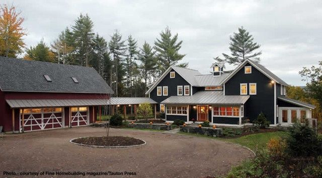 House With Barn Attached Google Search Garage Designs