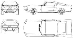 Image Result For Free Sports Car Blueprints Mustang Shelby Shelby Gt500 Ford Mustang Shelby Gt500