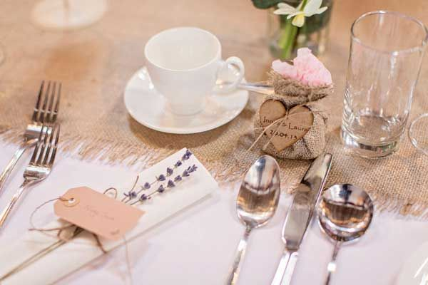 Simple Rustic Place Setting For An Aswanley Wedding