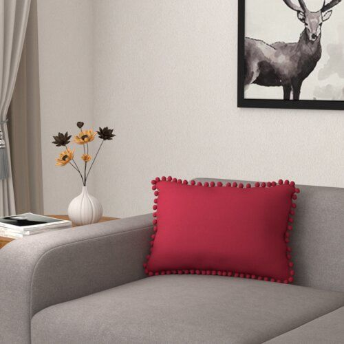 Latitude Vive These cushion with filling covers please your family and guests a lot, contributing to a warm and sweet home. Perfect for bedroom, living room, especially sofa. Size: 30cm H x 50cm W, Colour: Red