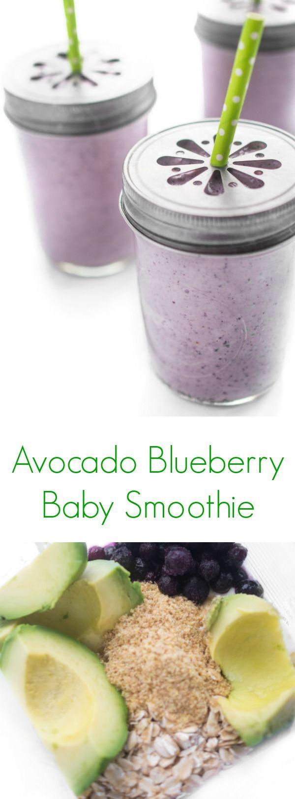 Avocado Blueberry Baby Smoothie - The Lemon Bowl®