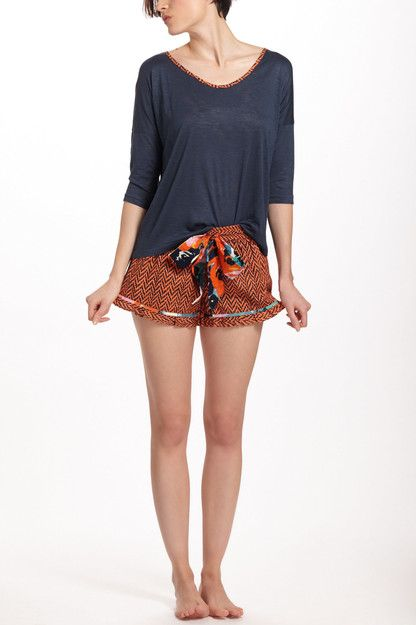Anthropologie Dotted Chevron Sleep Shorts---How adorable are these.....