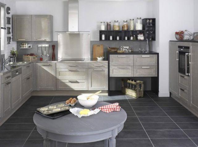 Cuisine Meubles Gris Lapeyre Déco Interieur Pinterest - Amenagement interieur meuble cuisine pour idees de deco de cuisine