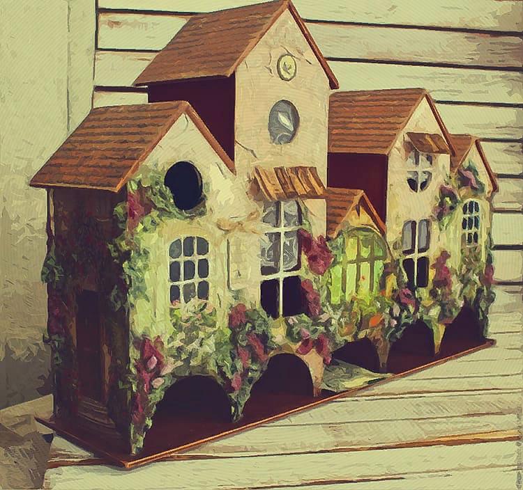 чайный домик из пачки чая своими руками