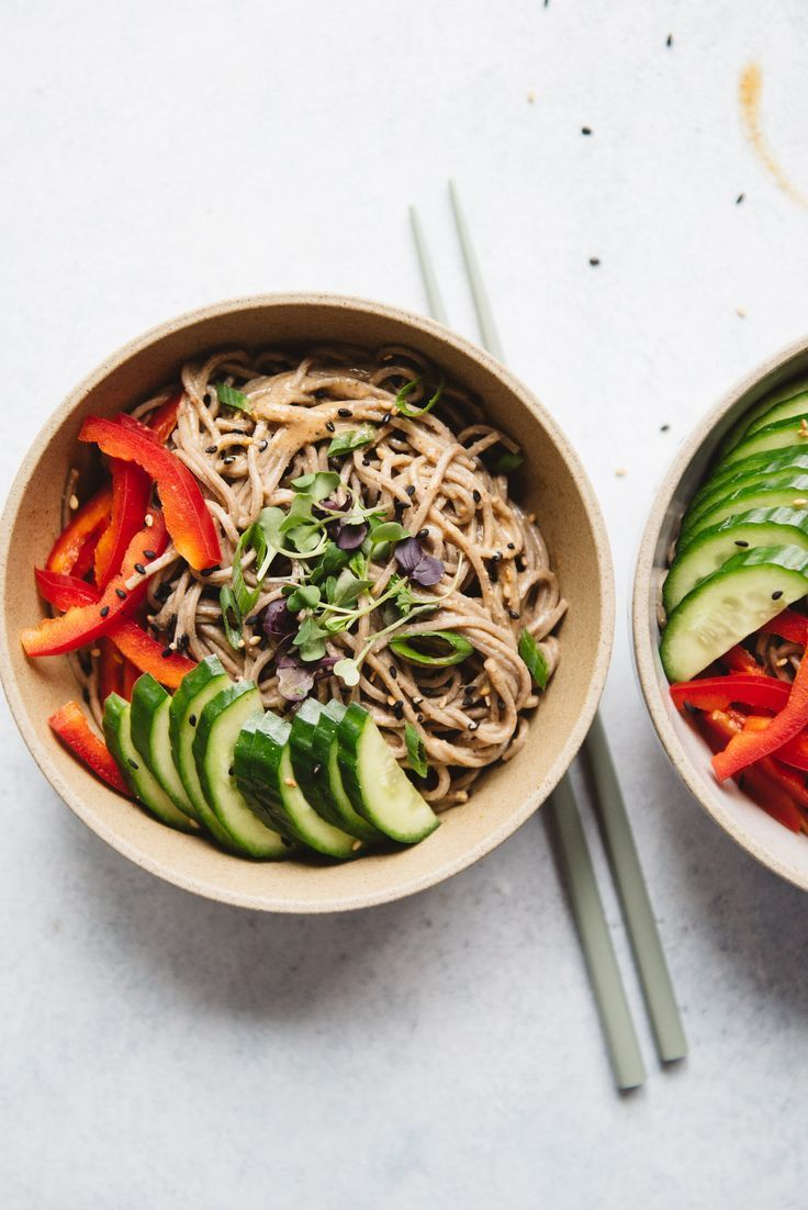 Cold Soba Noodles With Almond Butter Sauce