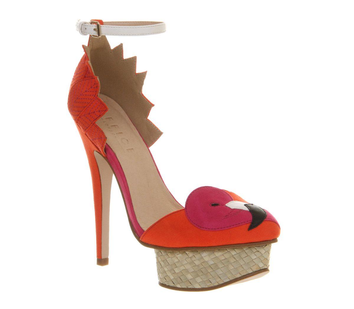 Office Jay Bird Flamingo Platform Pink High Heels