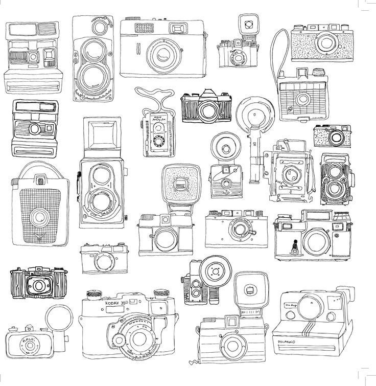 Image Result For Adult Coloring Pages Camera Sketch Book