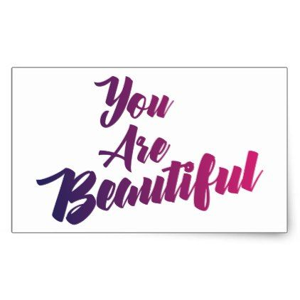 You Are Beautiful Stickers - calligraphy gifts custom personalize diy  create your own