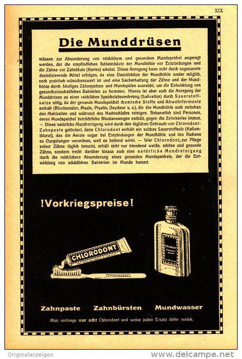Original Werbung Inserat Anzeige 1931 1 1 Seite Chlorodont