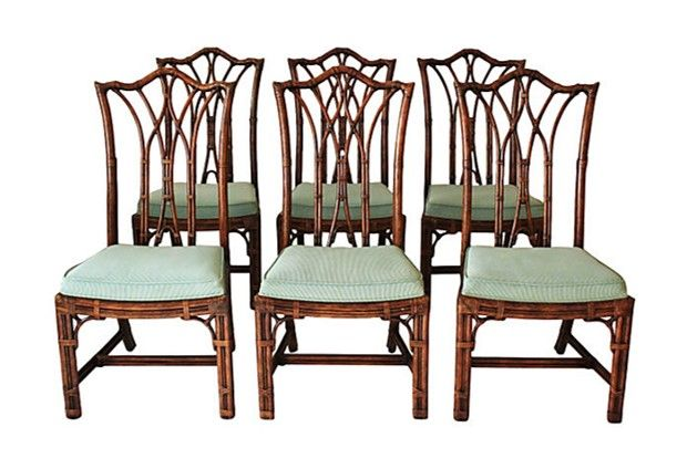 Henredon Chippendale Dining Chairs, Set Of Six