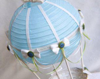 Hot Air Balloon Baby Shower Centerpiece Ivory And Pink Lace Baby Shower Centerpiece
