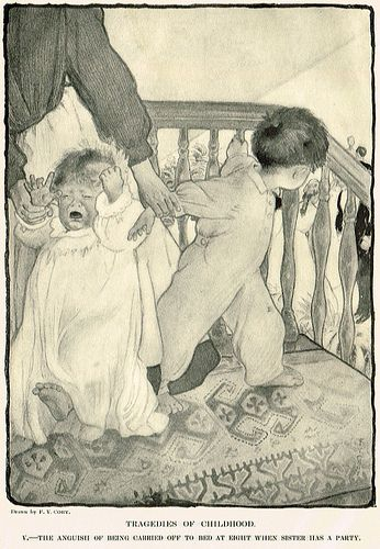 Tragedies of Childhood-F. Y. Cory's illustration from my Harper's Bazar, 1902 May.