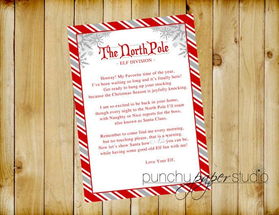 ELF Welcome Back Letter on North Pole Stationary (ELF DIVISION) by - goodbye note