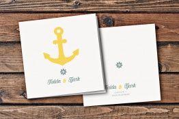 maritime einladungskarte mit anker. #hochzeitskarten, Kreative einladungen
