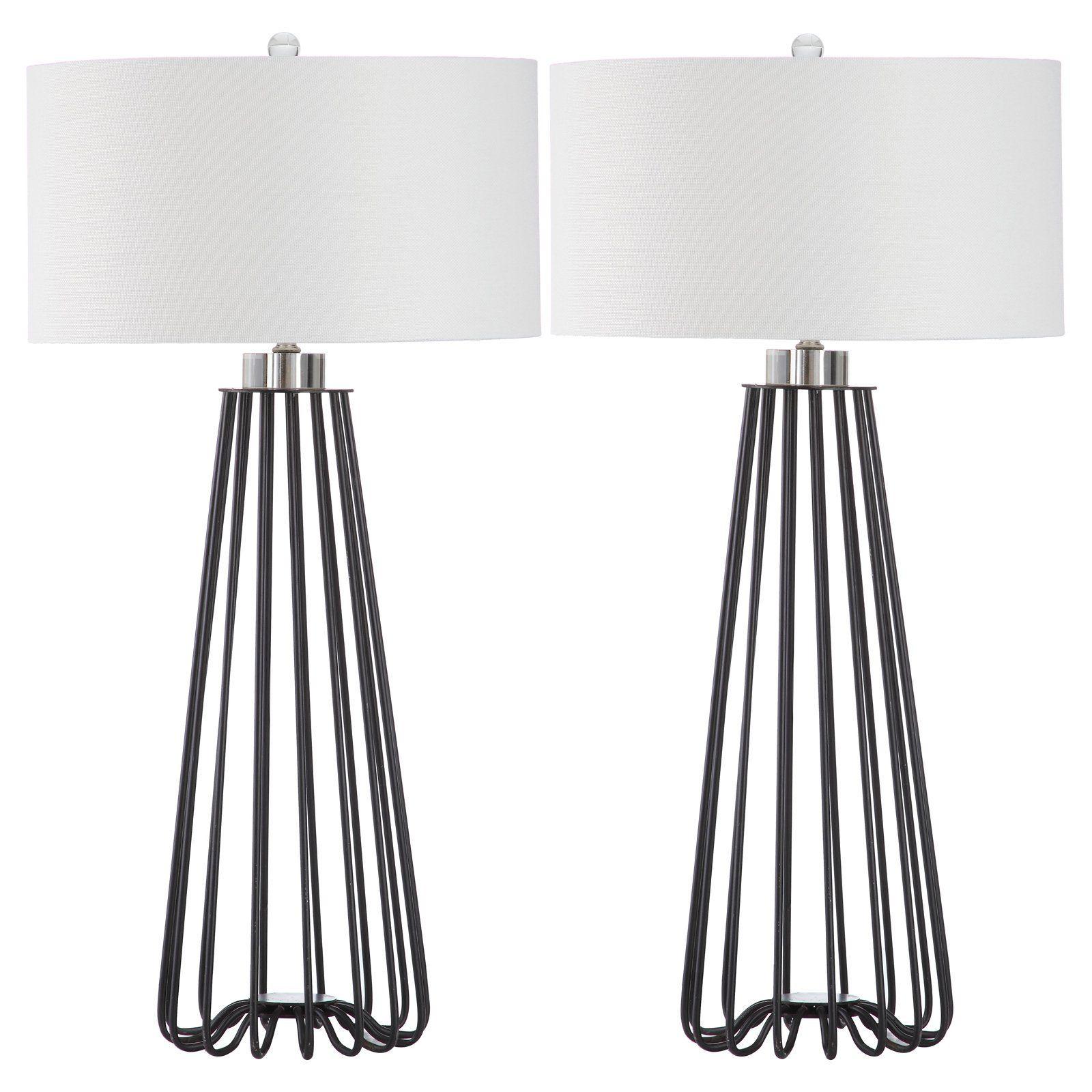 Safavieh Estill 34 in. H MidCentury Table Lamp, Black