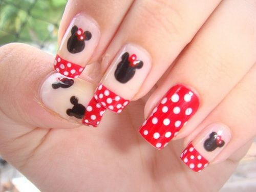 Beautiful Minnie Mouse Nail Designs - http://naildesignguide.com/beautiful- - Beautiful Minnie Mouse Nail Designs - Http://naildesignguide.com