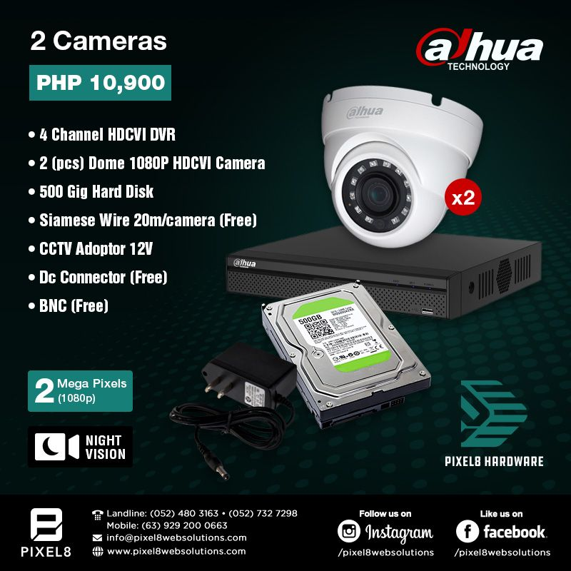 Pixel8 now offers CCTV packages for your security needs! Choose from