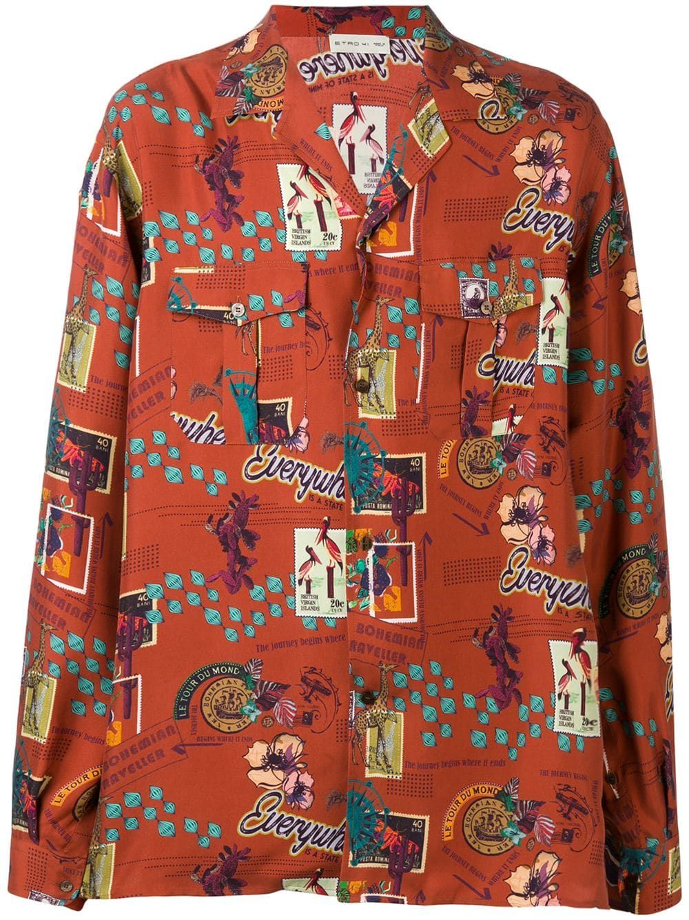Floral Big and Tall Short-Sleeve Tunic Shirt Zimaes-Men Polo-Collar Relaxed