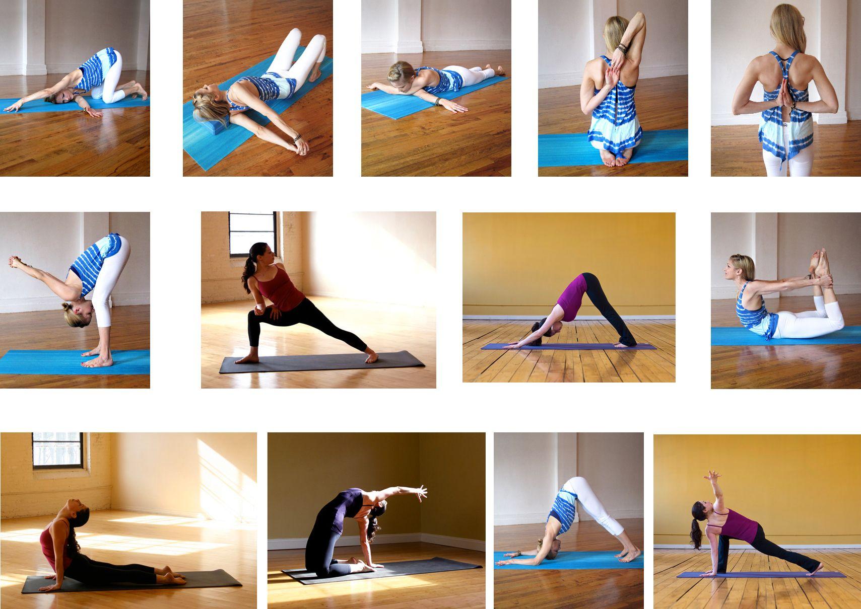 Secuencia de yoga para abrir el pechoyoga para principiantes ejercicios pinterest - Ejercicios yoga en casa ...