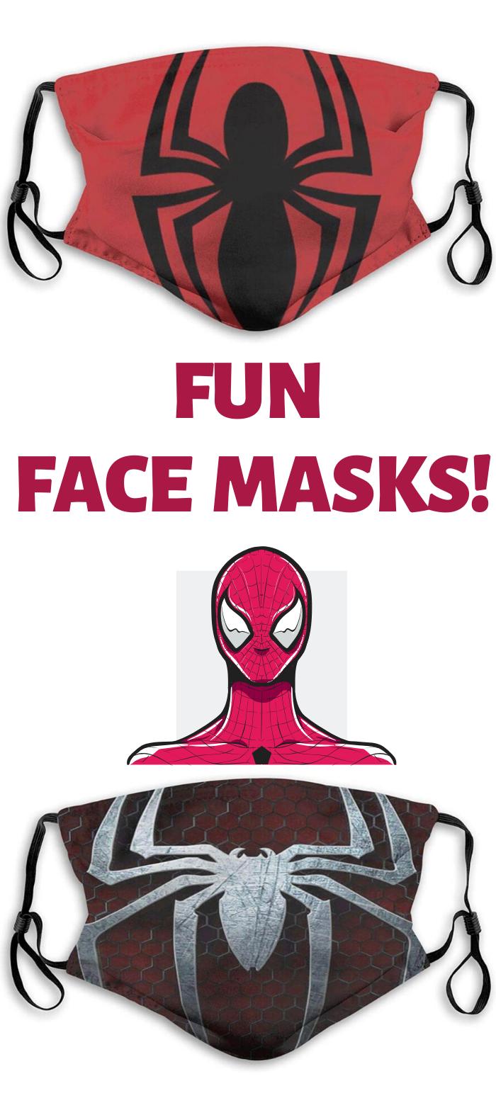 Fun Face Masks in 2020 Kids halloween face, Face masks