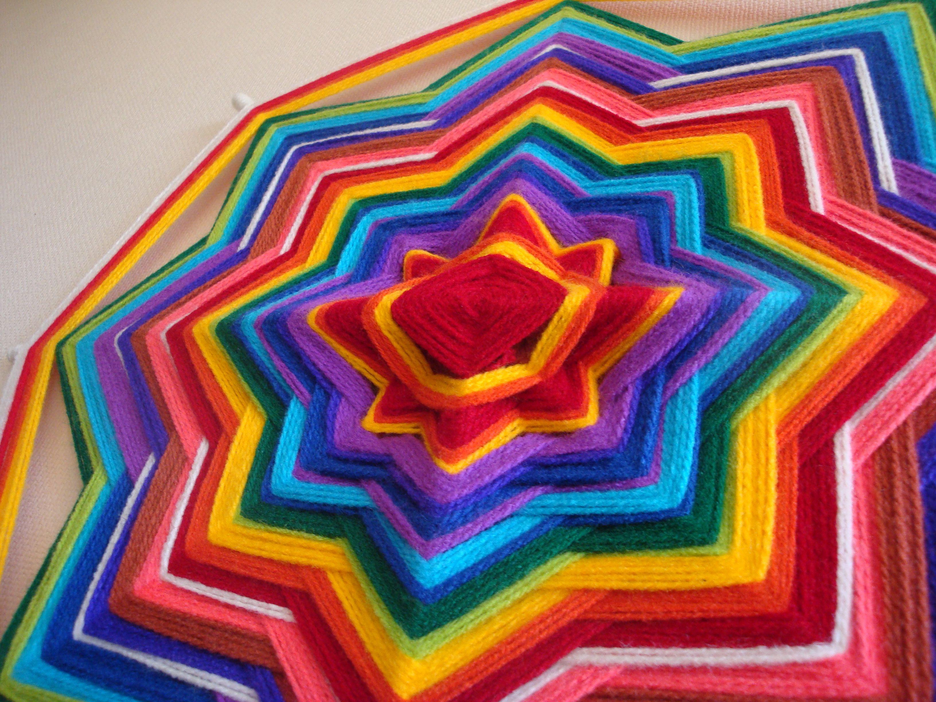 mandala arcoiris   mandalas de 4 y 8 puntas   Pinterest