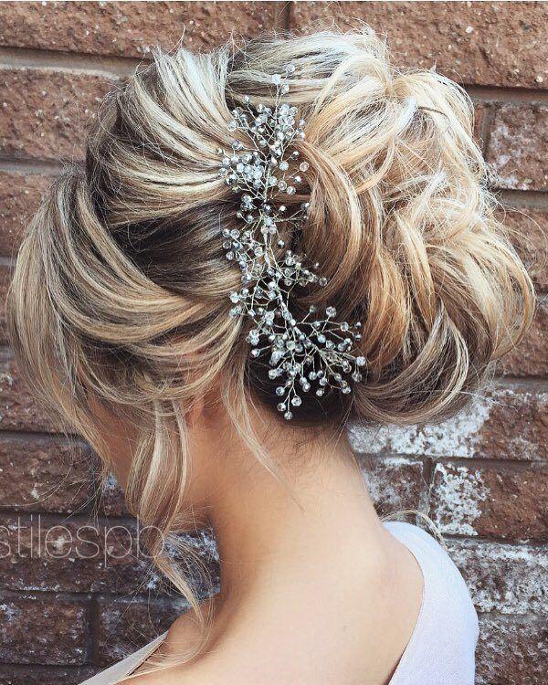 75 chic wedding hair updos for elegant brides pinterest kapsels half updo braids chongos updo wedding hairstyles httpwww junglespirit Gallery