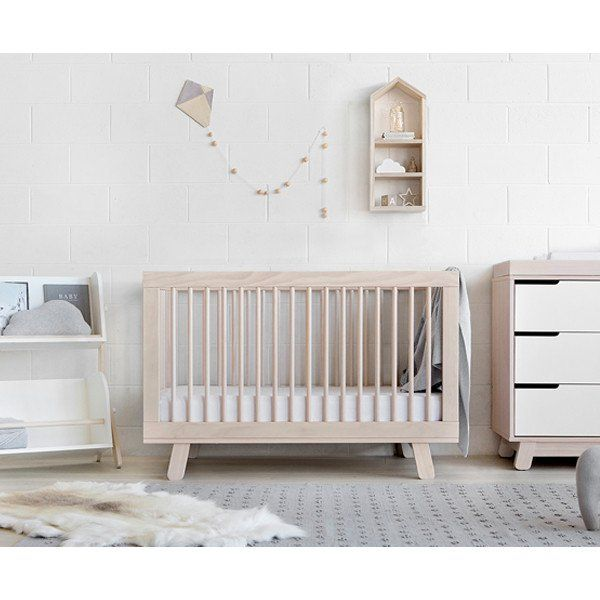Babyletto Hudson Cot Washed Natural Babyletto Crib Baby