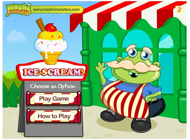 Moshi monsters ice cream game not working — pic 1