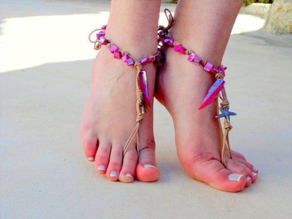Barefoot sandals. pink wedding sandals.  boho barefoot sandals, barefoot sandles, crochet barefoot sandals, , yoga, anklet  hippie shoes