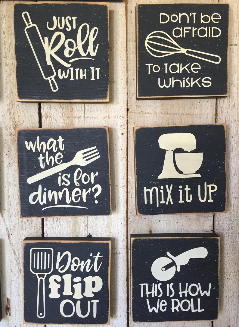 Farmhouse Kitchen Black And White Kitchen Decor Funny Etsy In 2020 White Kitchen Decor Kitchen Humor Cooking Puns