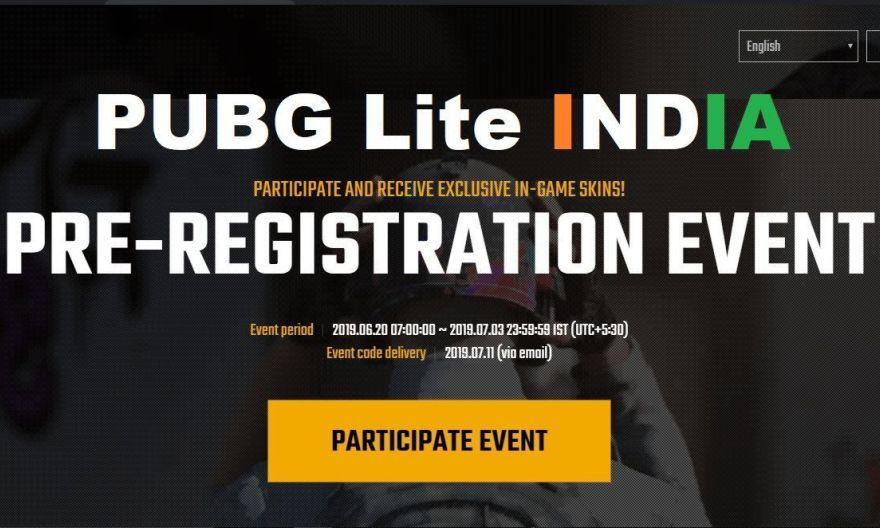 Pubg Lite India Is Now Open For Pre Registration Pubg