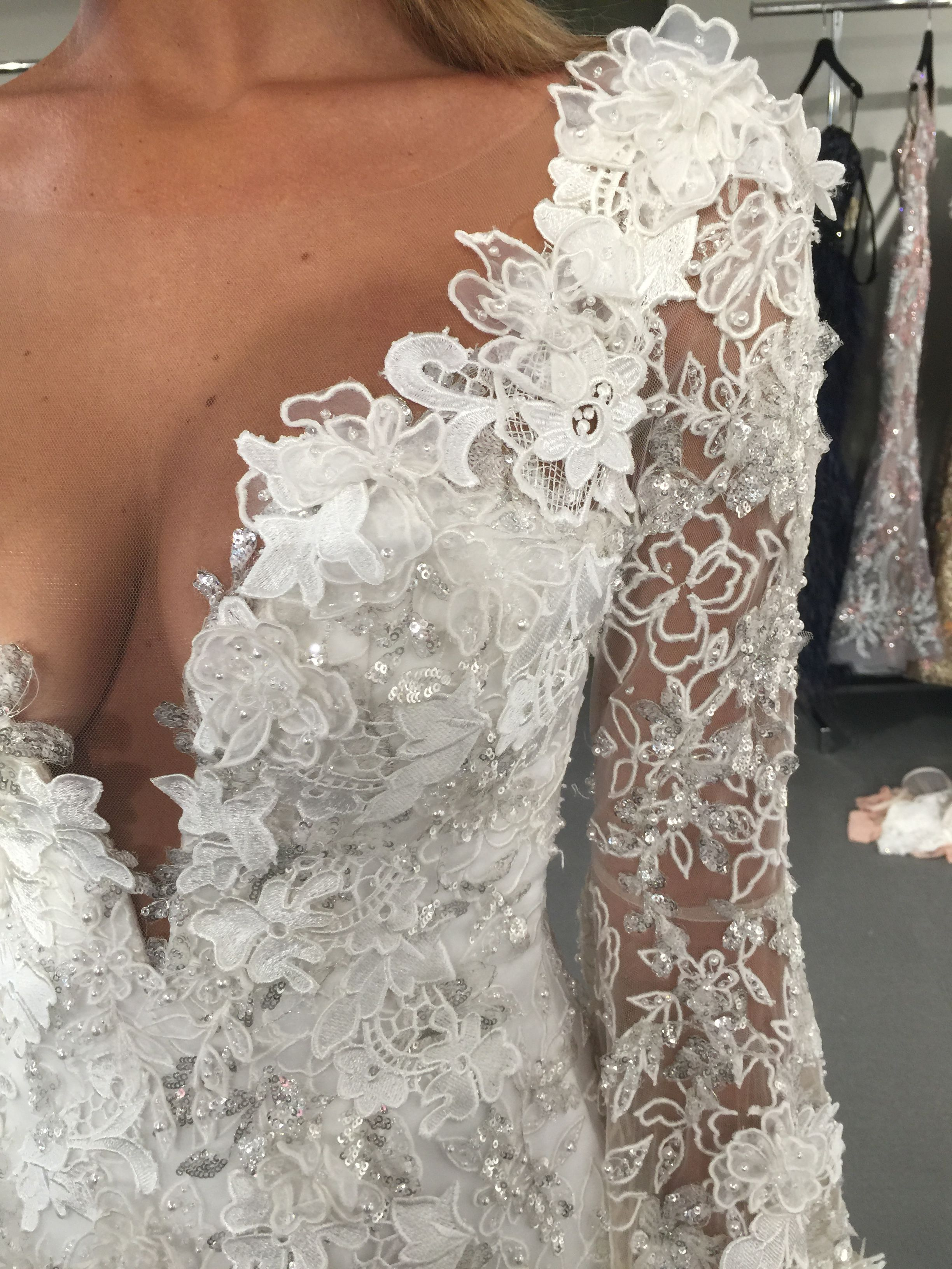 fdb4f23c412638 Ysa Makino FAll 2017 wedding dress available at Dimitra s Bridal Couture in  Chicago. www.DimitrasBridal.com  sparkle  glamorous  bride  engagementring  ...