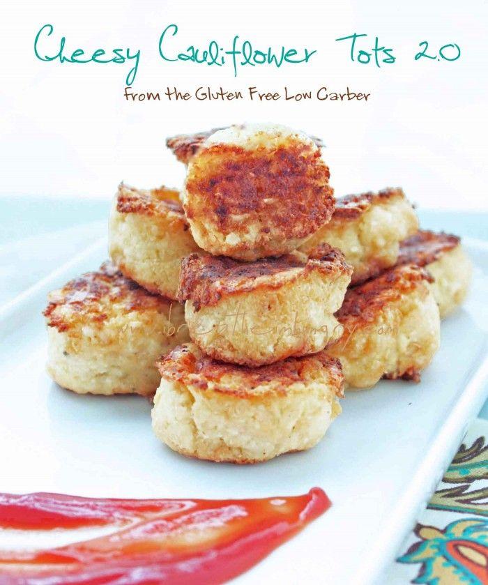 Cheesy Cauliflower Tater Tots (Low Carb & Gluten Free) - I Breathe... I'm Hungry...