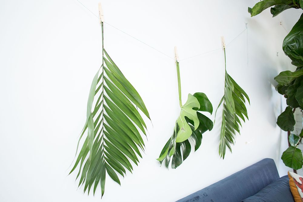 How to Decorate with Palm Leaves: Garland DIY