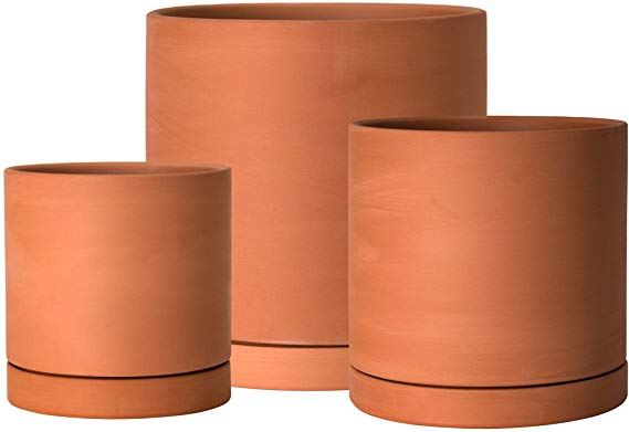 Amazon Com D Vine Dev 4 Inch 5 Inch 6 Inch Terracotta Ceramic Planter Pot With Saucer Ceramic Tray Dr In 2020 Ceramic Planter Pots Ceramic Planters Ceramic Tray