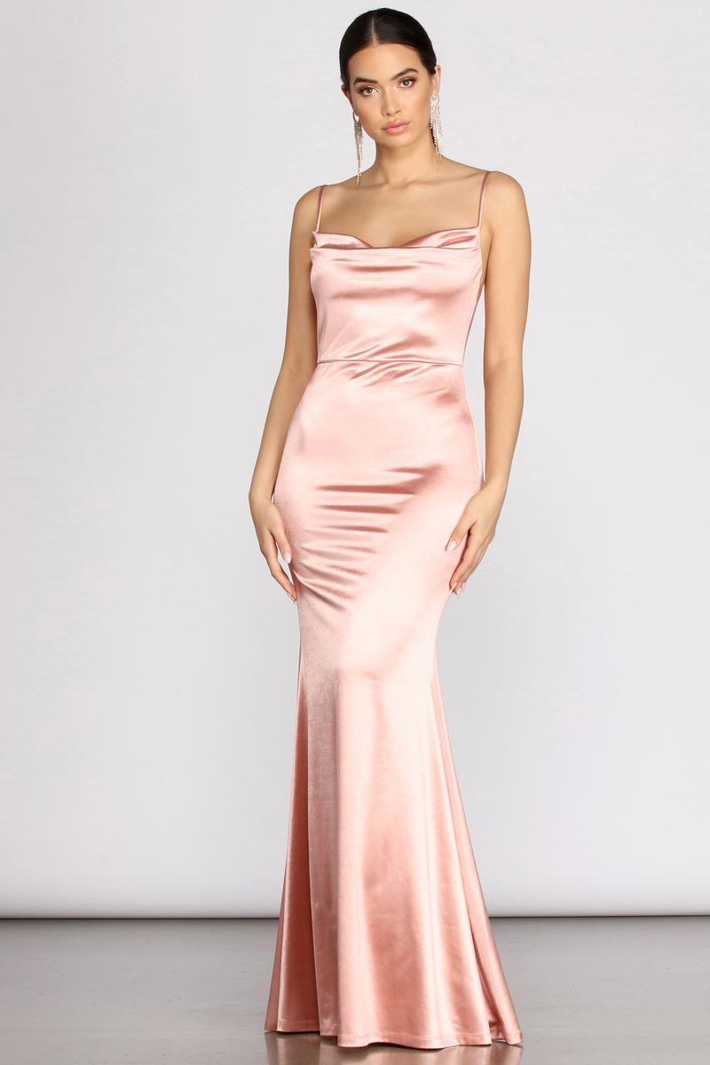 Nahla Formal Satin Mermaid Dress Satin Formal Dress Silk Bridesmaid Dresses Silk Prom Dress [ 1200 x 800 Pixel ]