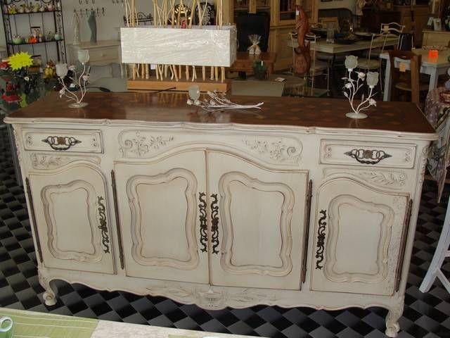 Decapage Peinture Et Patine D Un Buffet En Noyer Style Provencal A