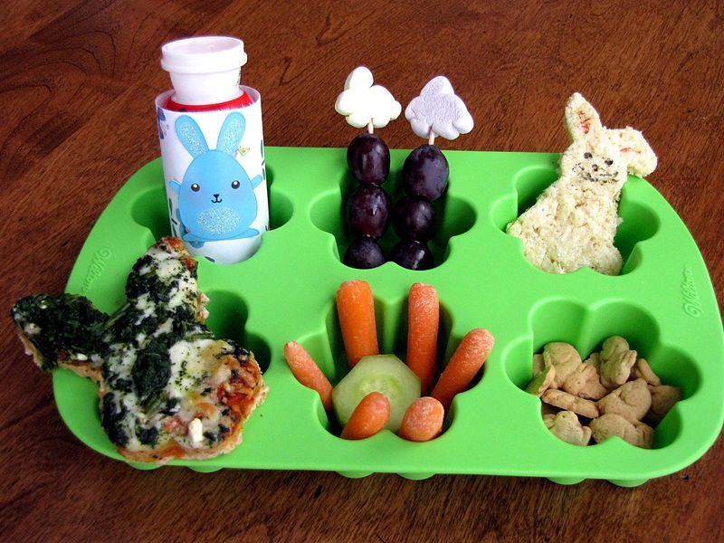 Bouncing Bunnies Muffin Tin Lunch