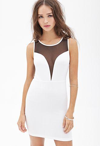 Mesh Scuba Knit Dress | FOREVER21 - 2000121615