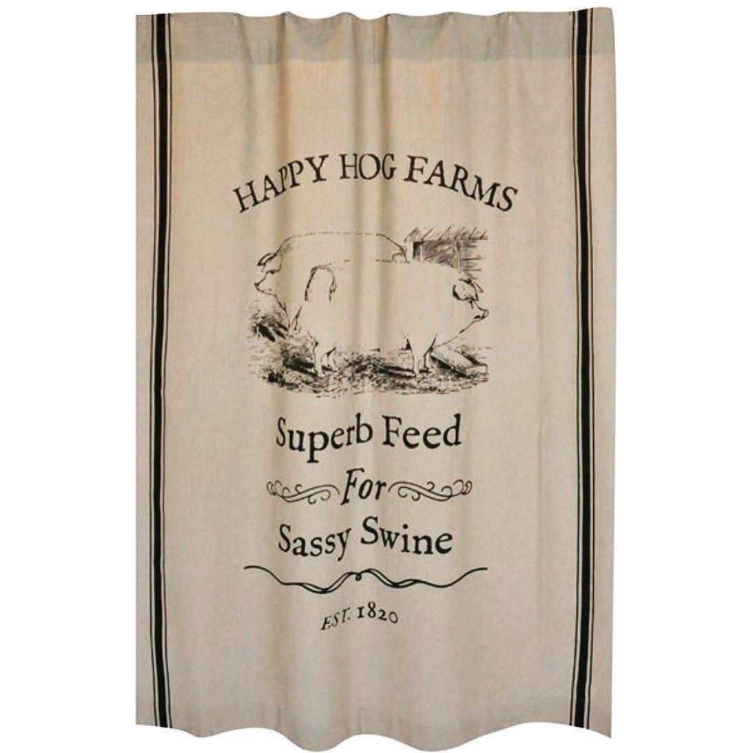 Happy Hog Farms Shower Curtain
