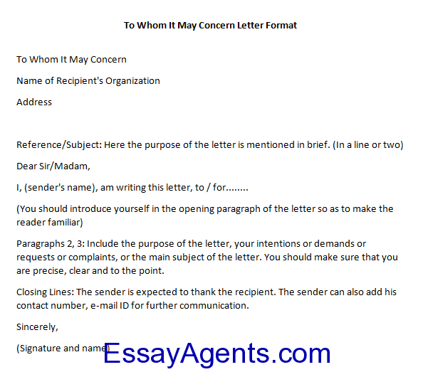 how to end a to whom it may concern letter
