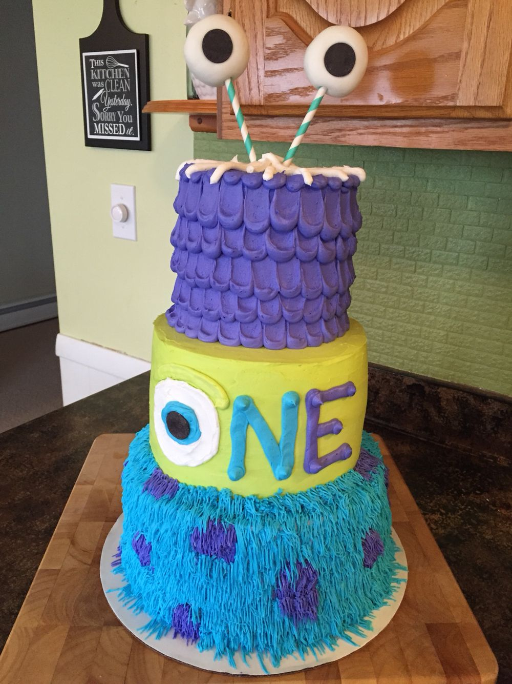 Monsters inc first birthday cake Salted Caramels Pinterest