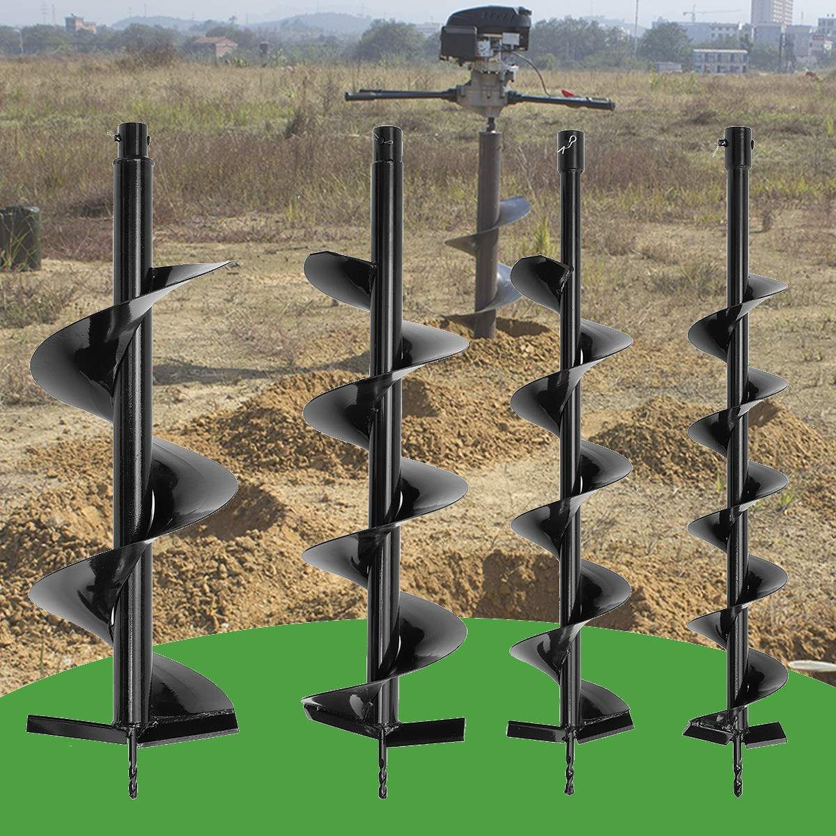 Single Blade Auger Bit Drill Garden Planting Earth Petrol Post Hole Digger Tool