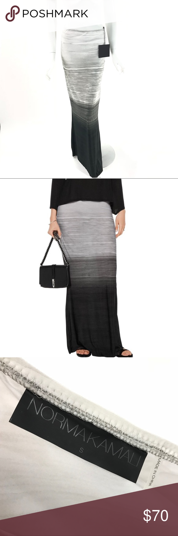 Buy Online New Norma Kamali Woman Obie Ombré Stretch-jersey Maxi Skirt Gray Size XS Norma Kamali Original Discount Price Buy Cheap Footaction Clearance Countdown Package UTEhhgN4Uy