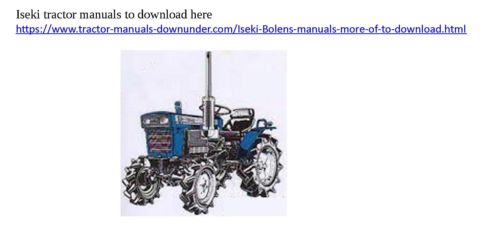 Iseki Tractor Manual Engine Diagram Array The Place To Download Manuals You Rh Pinterest Com